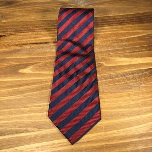 Ermenegildo Zegna Silk Men's Neck Tie Red Blue